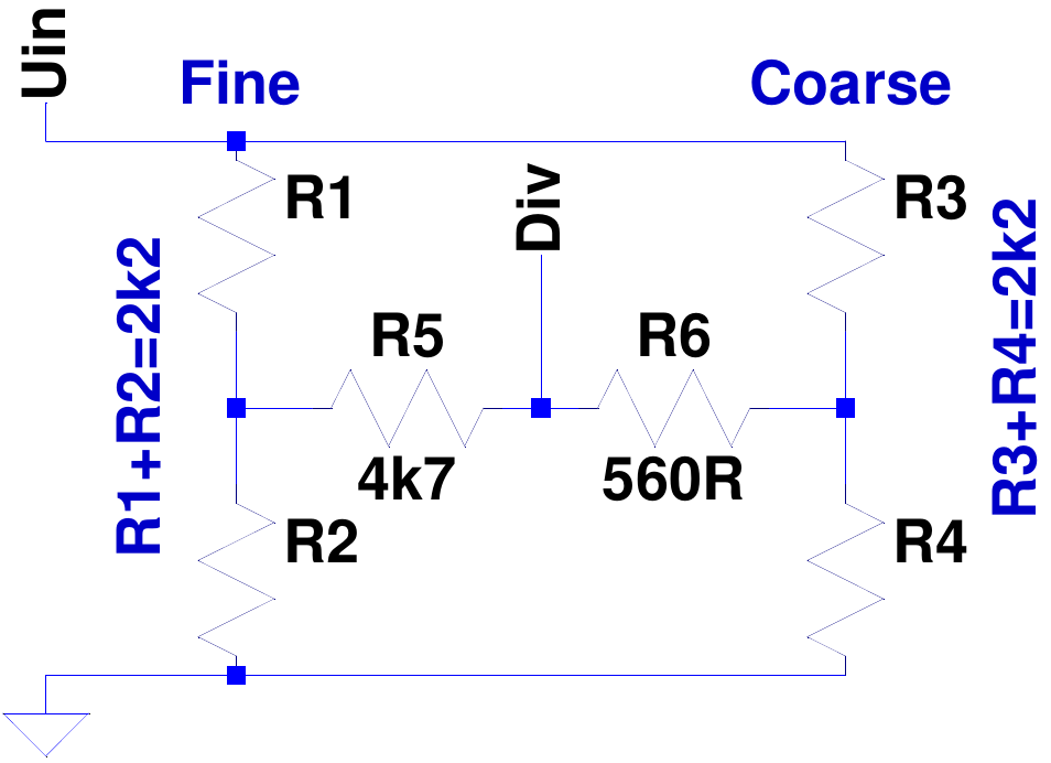 Co/Fine Potentiometer adjustment on