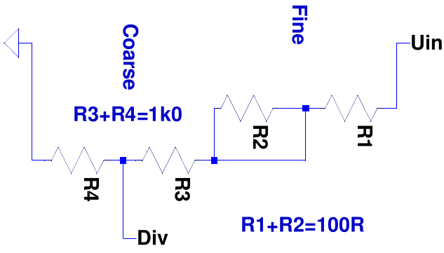 Coarsefine potentiometer adjustment has the drawback that the influence of the fine resistor is zero at one end of the scale and the total resistance of the serial arrangement varies by asfbconference2016 Images